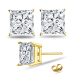 2.00 Cts Diamond Stud Earrings in 18K Yellow Gold