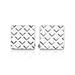 23 Karat Gold Electroplated Diamond Cut Cuff Links