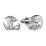 Helmet Cuff Links in Stainless Steel with 23K Gold & Rhodium Electroplating