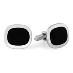 Fashion Cufflinks in Stainless Steel with 23K Gold & Rhodium Electroplating
