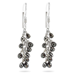 3.65 Ct Black Diamond Briolete Earrings in 18K Gold