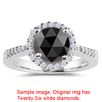 1.22-1.45 Cts Black & White Diamond Ring in Platinum
