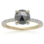 1.33 Cts Black & White Diamond Ring in 14K Gold