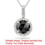 1.19-1.42 Cts Black & White Diamond Pendant in Platinum