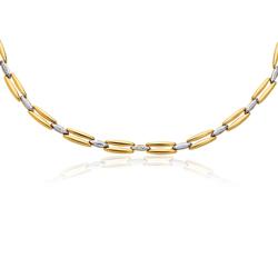 Womens Fancy Chain in 14K Two Tone Gold