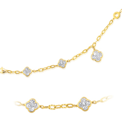 Classico Flower Bracelet in 14K Two Tone Gold