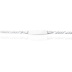 Prince Children's Id Link Bracelet in 14K White Gold