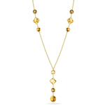 3.10 Cts Citrine Necklace in 14K Yellow Gold
