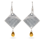 1.50 Cts Citrine Earrings in Sterling Silver