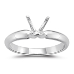 Engagement Ring Setting - Platinum Four Prong Solitaire Setting