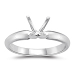 Engagement Ring Setting - 18K White Gold Four Prong Solitaire Setting