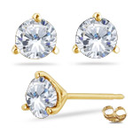 Your Own Beautiful Diamond Stud Earrings in 18K Yellow Gold