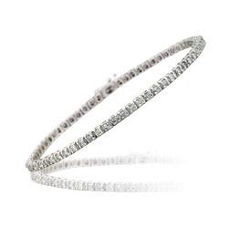 2.50 Cts Diamond Bracelet in 14K White Gold
