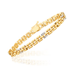 0.08-0.14 Cts  SI2 - I1 clarity and I-J color Diamond Bracelet in 14K Yellow Gold