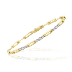 0.30-0.36 Cts  SI2 - I1 clarity and I-J color Diamond Bracelet in 14K Yellow Gold