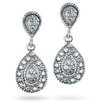 0.27 Cts Diamond Earrings in 14K White Gold