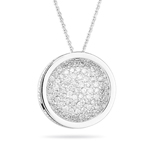 1.30-1.35 Cts Diamond Round Pendant in 14K White Gold