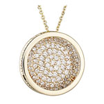 Diamond Pendant - 1.30-1.35 Ct Diamond Round Pendant in 14k Yellow Gold