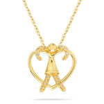 0.05-0.09 Cts  SI2 - I1 clarity and I-J color Diamond Heart Pendant in 14K Yellow Gold