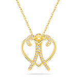 0.12-0.16 Cts  SI2 - I1 clarity and I-J color Diamond Heart Pendant in 14K Yellow Gold