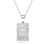 1.20-1.25 Cts  SI2 - I1 clarity and H-I color Diamond Pendant in 18K White Gold - Christmas Sale