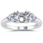 2/3 Cts Diamond Engagement Ring Setting in 18K White Gold