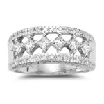 0.95-1.00 Cts  SI2 - I1 clarity and I-J color Diamond Ring in 14K White Gold