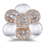 1.03-1.08 Cts  SI2 - I1 clarity and I-J color Diamond Ring in 14K Two Tone Gold