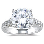 0.32 Ct Diamond Ring Setting in18K White Gold