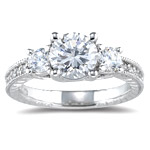 0.55 Ct Diamond Ring Setting in 18K White Gold