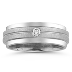 0.02-0.07 Cts SI2-I1 clarity & I-J color Diamond Wedding Band in 14K White Gold