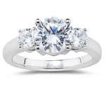 2.00 Cts Cts Diamond Three Stone Ring in 18K White Gold