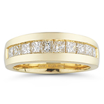 0.85-0.90 Cts  SI2 - I1 clarity and I-J color Diamond Ring in 14K Yellow Gold