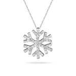 Diamond Snowflake - 1/4+ Ct Diamond Snowflake Pendant in 14K Gold