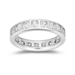 Womens Eternity Wedding Ring in White Gold