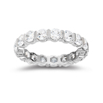 Womens Floating Eternity Wedding  Ring in White Gold