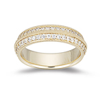 Womens Celtic Eternity Wedding Ring in Yellow Gold