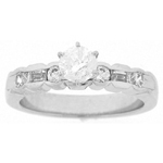 0.52 Cts Diamond Engagement Ring Setting in 18K White Gold