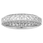 Anniversary Gift - 2.60 Ct Princess-Cut & Round Diamond Eternity Band