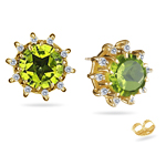 0.20 Ct Diamond & 5.20 Ct Texas Star Peridot Earrings-14K Yellow Gold