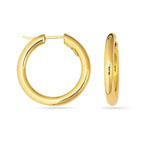 Round Tube Hoop Earrings in 14K Yellow Gold