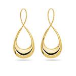 Pear Twisted Endless Hoop Earrings in 14K Yellow Gold