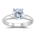 1 Carat 18K White Gold Four Prong Diamond Engagement Ring (G-SI1)