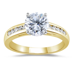 0.95 Cts Diamond Engagement Ring in 18K Yellow Gold