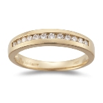 0.20-0.25 Cts  SI2 - I1 clarity and I-J color SI2 - I1 Round Diamond Wedding Band in 18K Yellow Gold