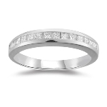 0.45 Ct Princess-Cut VS Diamond Channel Set Wedding Band in Platinum