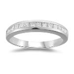 0.45 Ct Princess-Cut VS Diamond Channel Set Wedding Band in Platinum