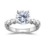 1.29 Cts Diamond Engagement Ring in 18K White Gold
