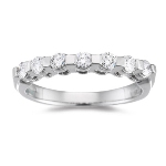 0.35 Cts Diamond accented Wedding Band in Platinum