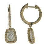 0.41-0.51 Cts Diamond & 0.82-1.02 Cts Light Grey Slice Diamond Earrings in 14K Yellow Gold